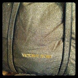 Victorias Secret glittery tote gold/black. Doesnt.